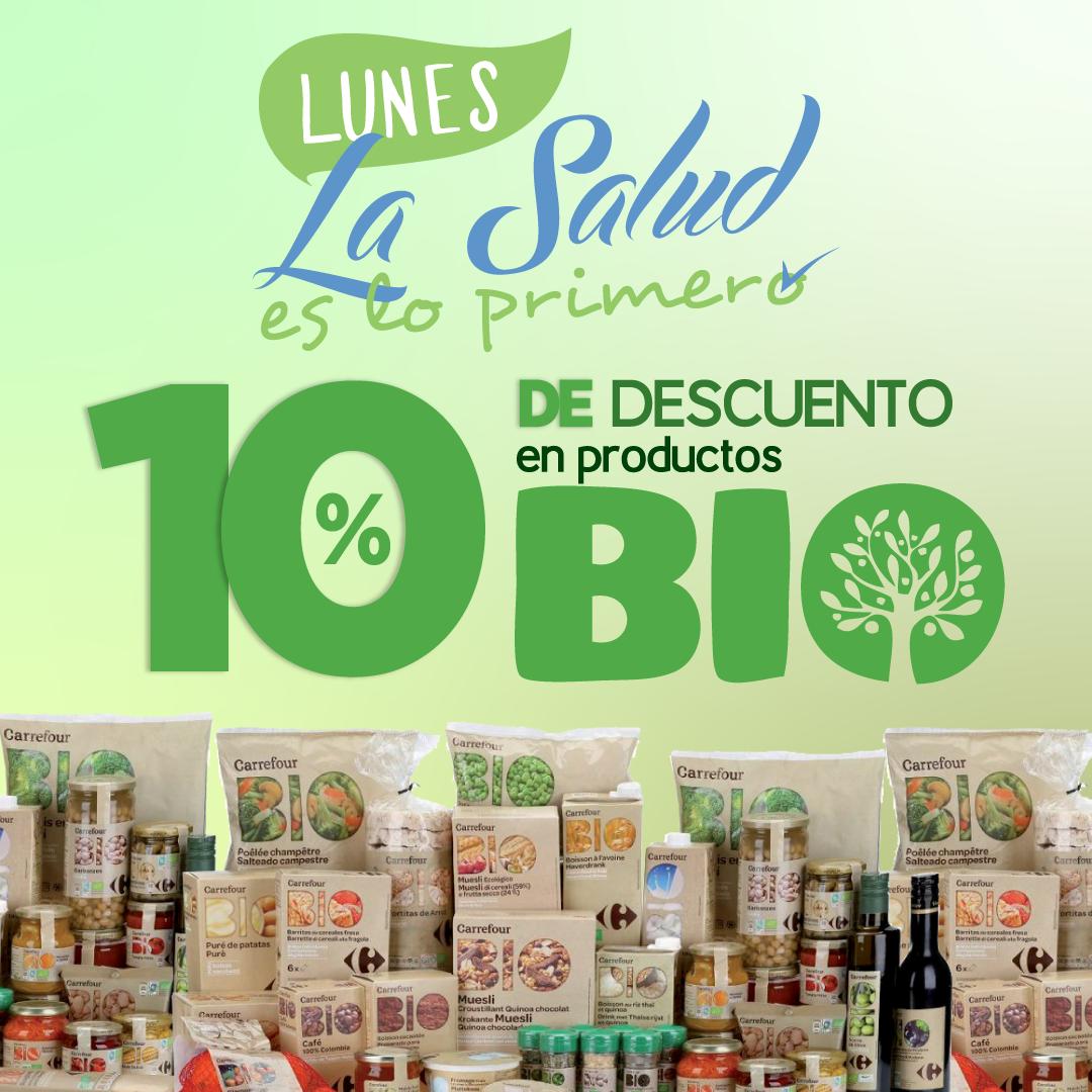 ¡Todos los lunes! 10% de descuento en Carrefour Bio