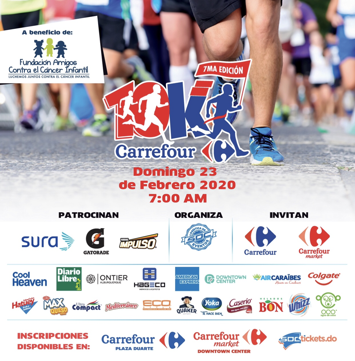 Carrefour anuncia 7ma edición de la carrera 10K Carrefour